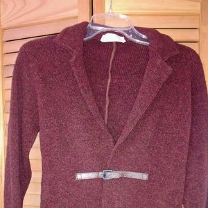 Burnt red wool blend sweater!